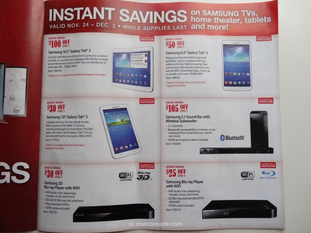 Costco 2013 Thanksgiving Weekend Savings 3