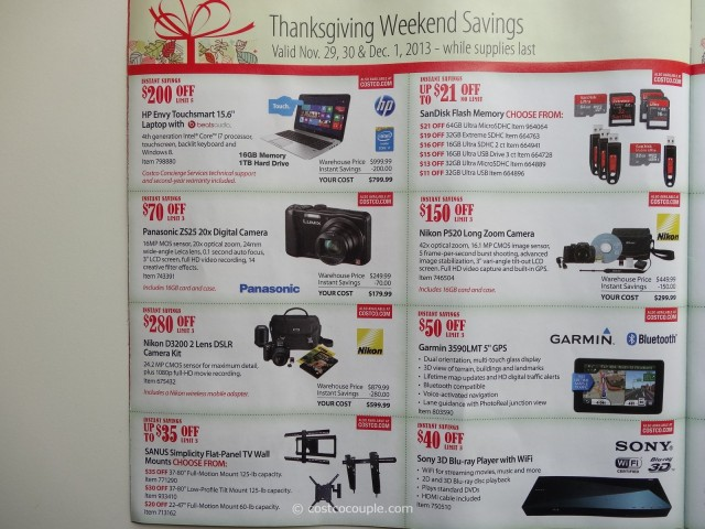 Costco 2013 Thanksgiving Weekend Savings 4