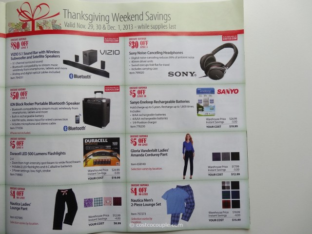 Costco 2013 Thanksgiving Weekend Savings 5