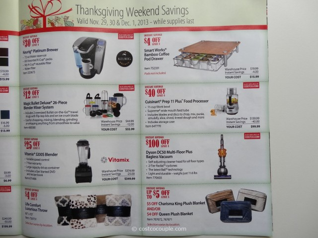 Costco 2013 Thanksgiving Weekend Savings 7
