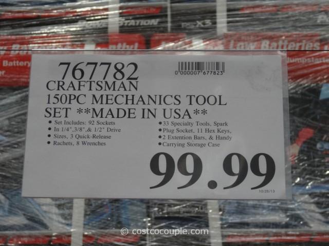 Craftsman 150-Piece Mechanics Tool Set Costco 1