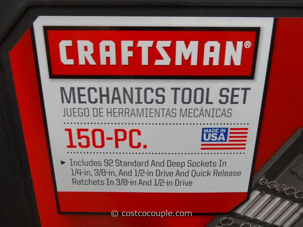 craftsman 150 piece mechanics tool set