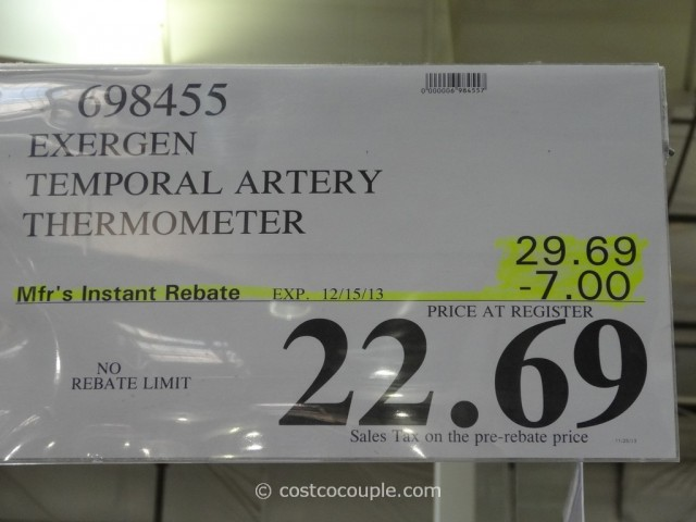 Exergen Temporal Artery Thermometer Costco 1