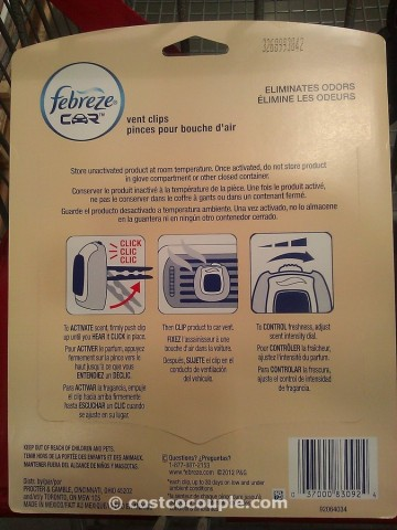 Febreze Car Air Vent Clips Costco 4