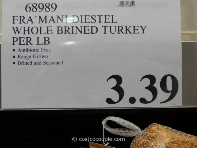 Framani Diestel Whole Brined and Seasoned Turkey Costco 1