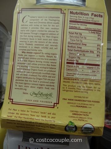Framani Organic Cranberry Sauce Costco 4
