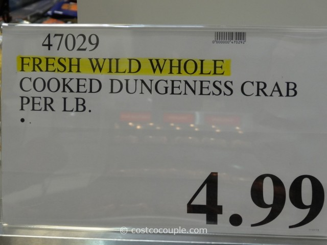 Fresh Wild Whole Cooked Dungeness Crab Costco 1