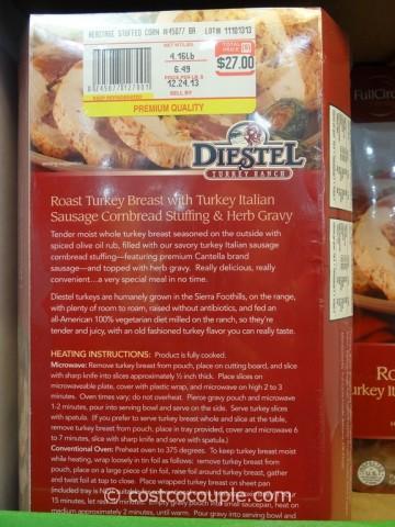 Full Circle Diestel Roast Turkey Breast With Stuffing Costco 2