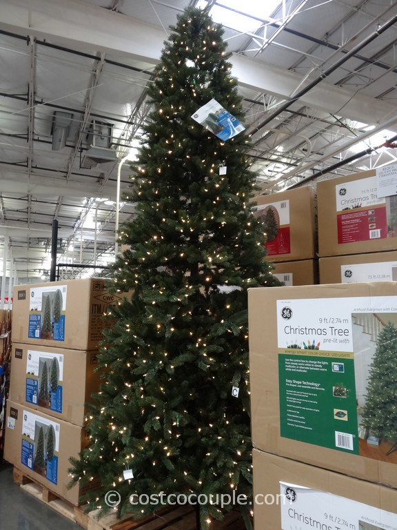 ge 12 feet prelit led christmas tree costco 2 - 9 Pre Lit Christmas Tree