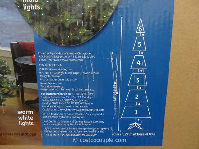 GE 12 Feet Prelit LED Christmas Tree Costco 5