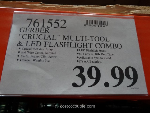 Gerber Crucial Multi-Tool and LED Flashlight Combo Costco 4