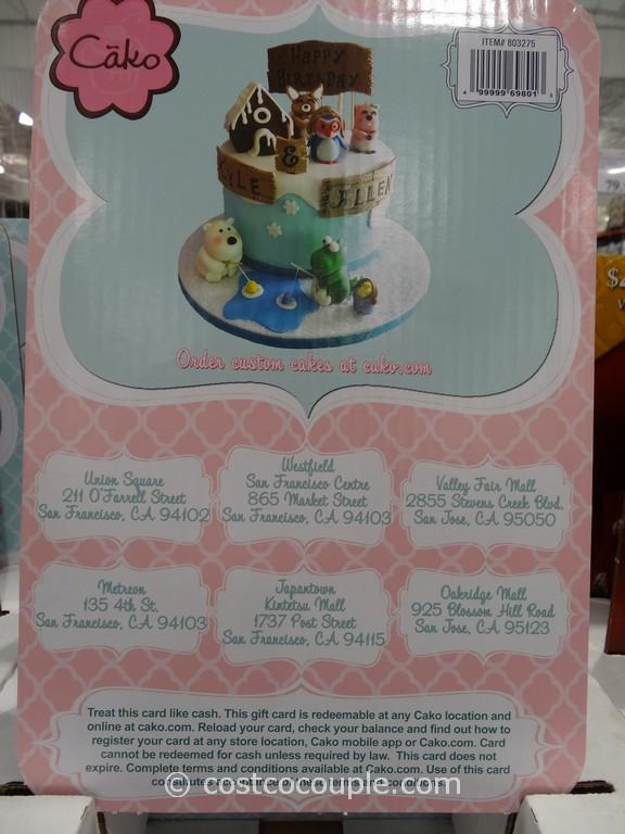 Gift Card Cako Bakery Costco 2