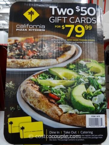 Gift Card California Pizza Kitchen Costco 1
