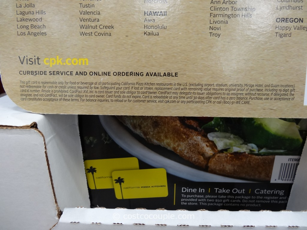 gift card california pizza kitchen costco 4