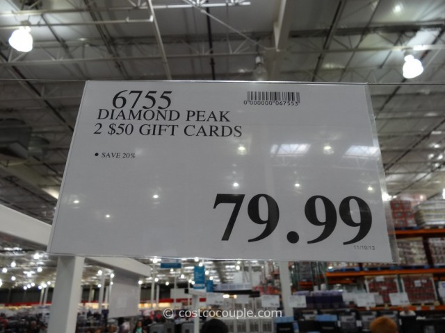 Gift Card Diamond Peak Costco 1