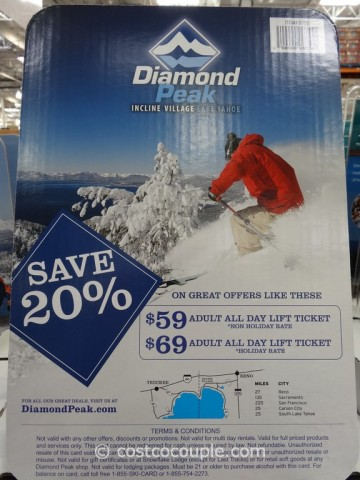 Gift Card Diamond Peak Costco 3