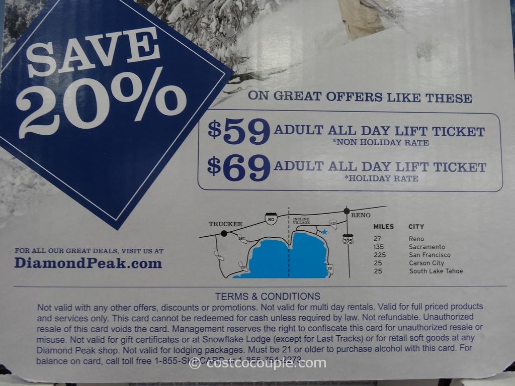 Diamond peak coupon