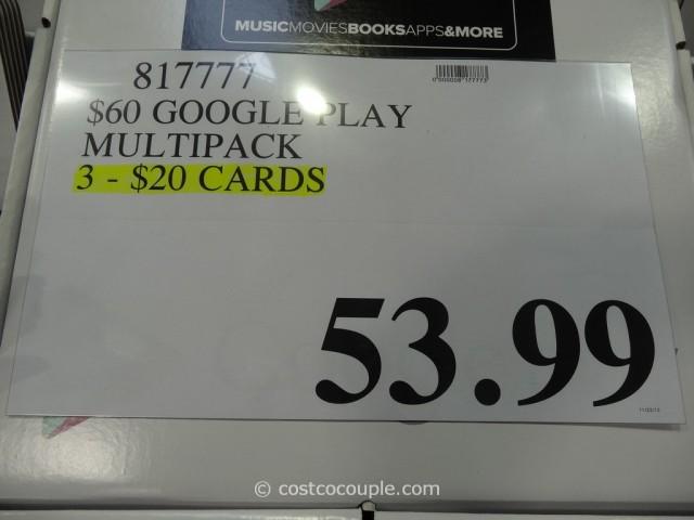 Gift Card Google Play Costco 3
