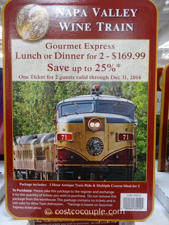 Gift Card Napa Valley Wine Train Costco 1
