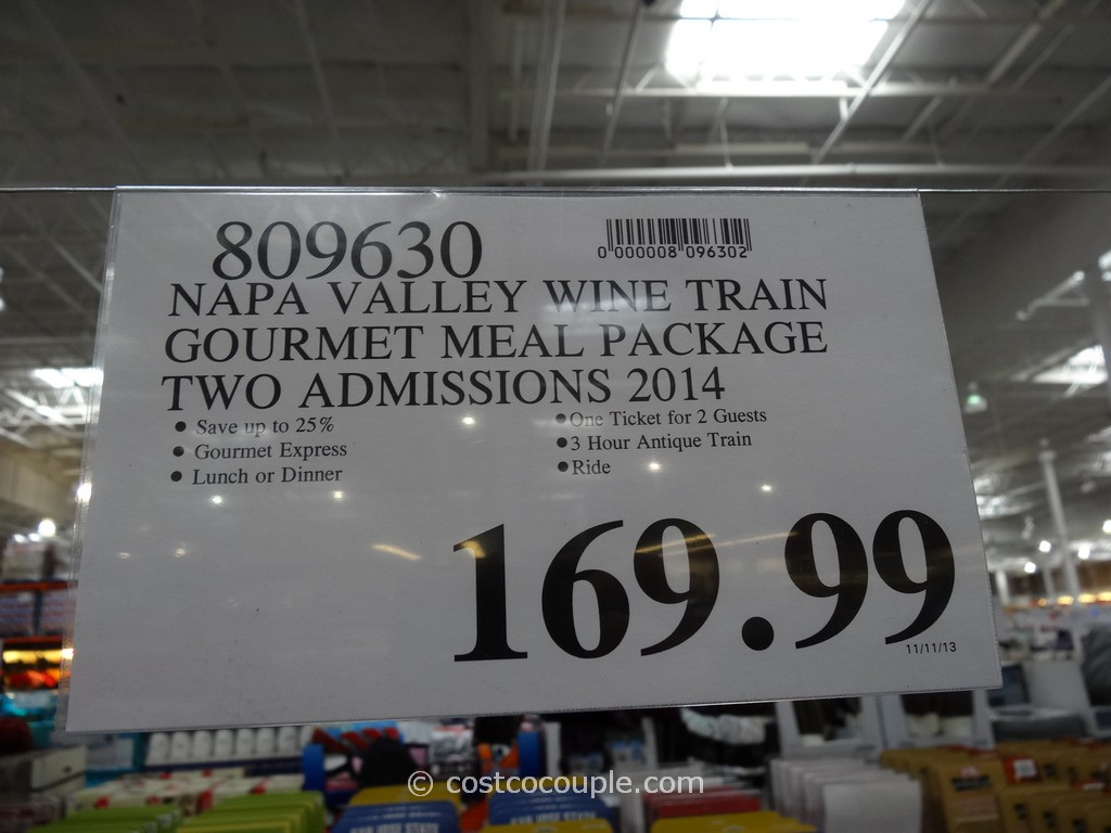 Napa Valley Wine Train Discount Gift Card