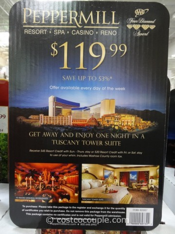 Gift Card Peppermill Resort Costco 2