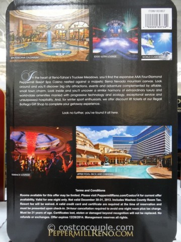 Gift Card Peppermill Resort Costco 4