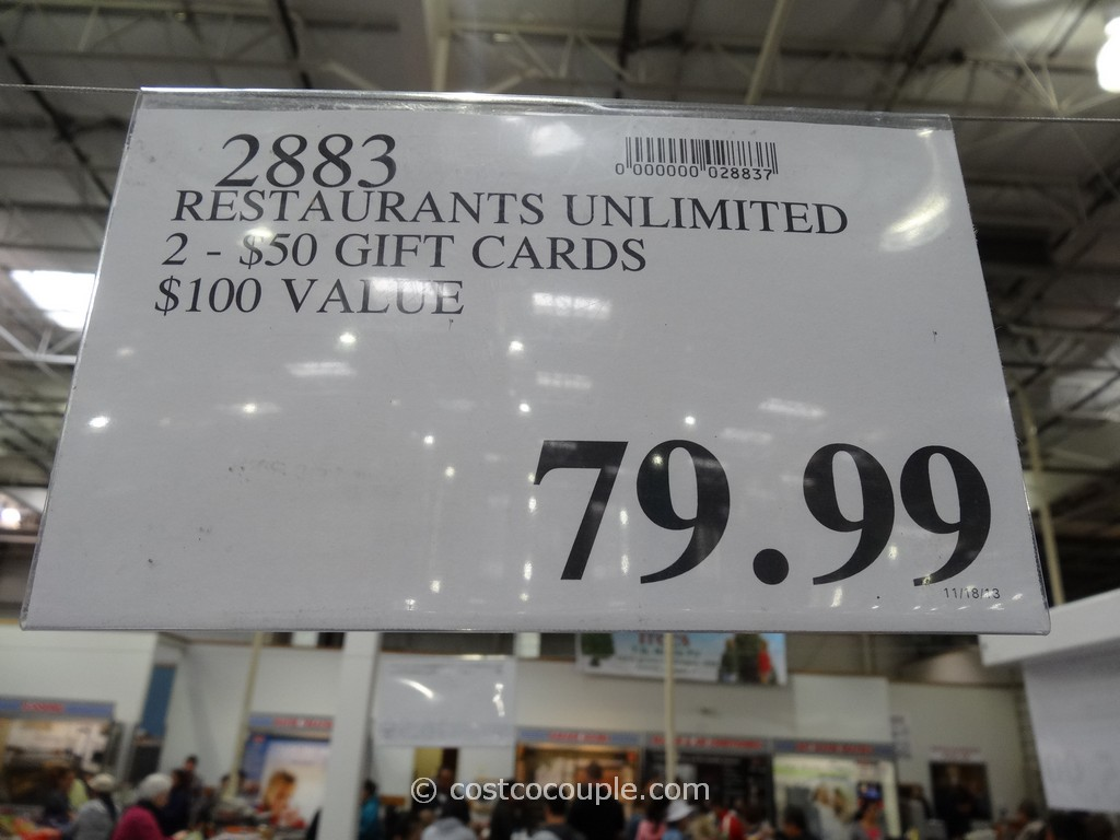 restaurants unlimited discount gift card gift card restaurants unlimited costco 2 gift card restaurants unlimited costco 1
