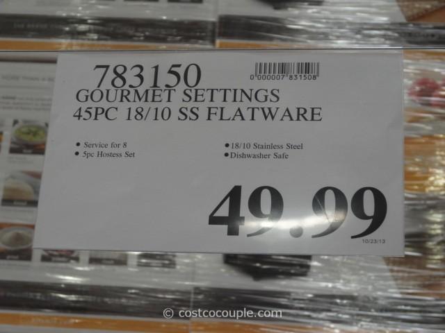 Gourmet Settings Flatware Set Costco 1