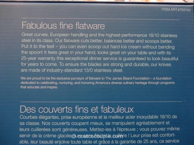 Gourmet Settings Flatware Set Costco 4