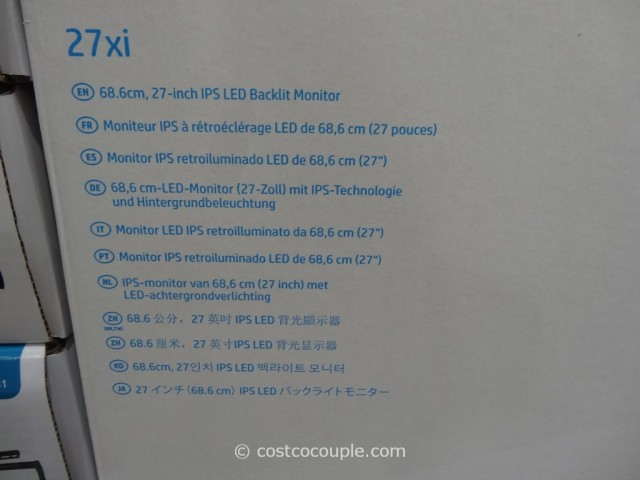 HP 27-Inch IPS LED Monitor Costco 14