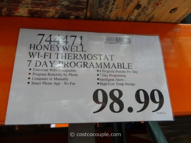 Honeywell Wifi Programmable Thermostat Costco 1