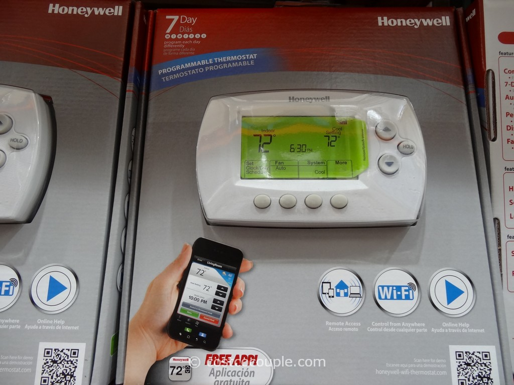 Honeywell Wifi Programmable Thermostat Costco 2