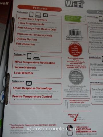 Honeywell Wifi Programmable Thermostat Costco 3