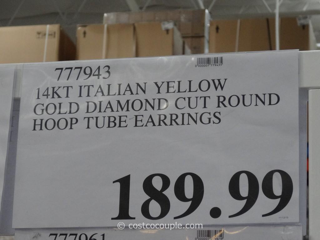 Italian 14kt Diamond Cut Hoop Earrings Costco 5