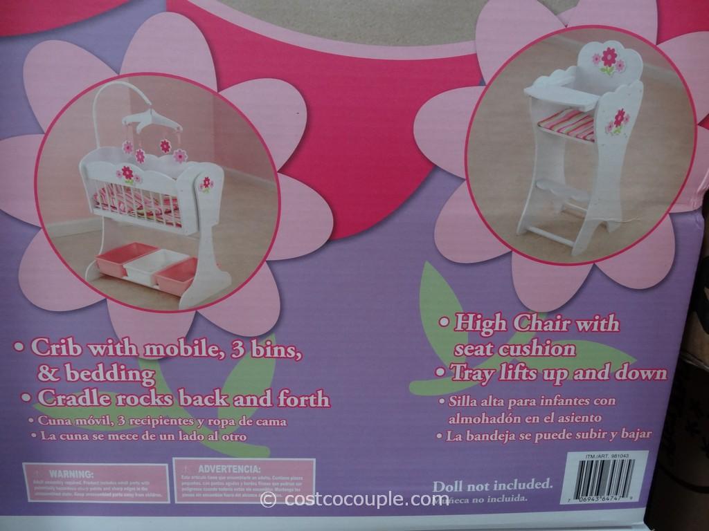 Gentil KidKraft Floral Fantasy Doll Furniture Costco 2 ...
