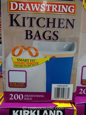 Kirkland Signature 13 Gal Drawstring Kitchen Bags Costco 3