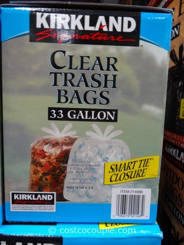 Kirkland Signature 33 Gal Clear Trash Bags Costco 2