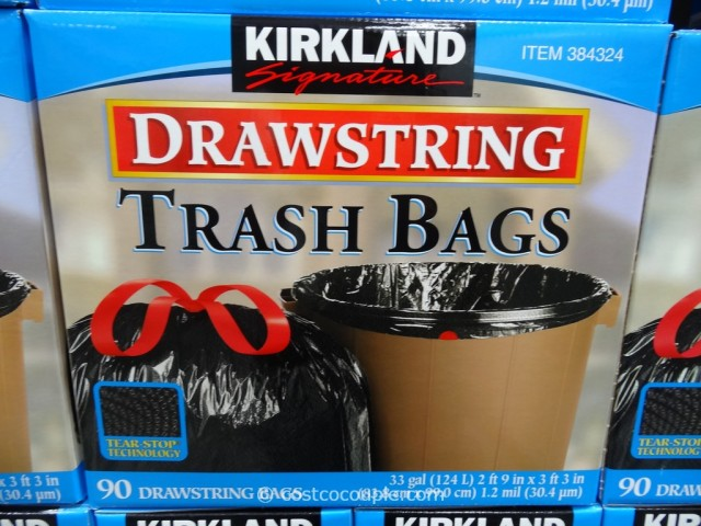 Kirkland Signature 33 Gal Drawstring Trash Bags Costco 3