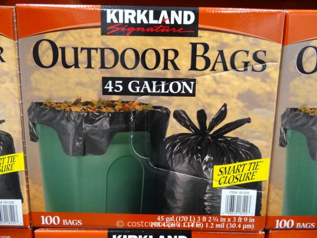 Kirkland Signature 45 Gal Outdoor Bags Costco 3