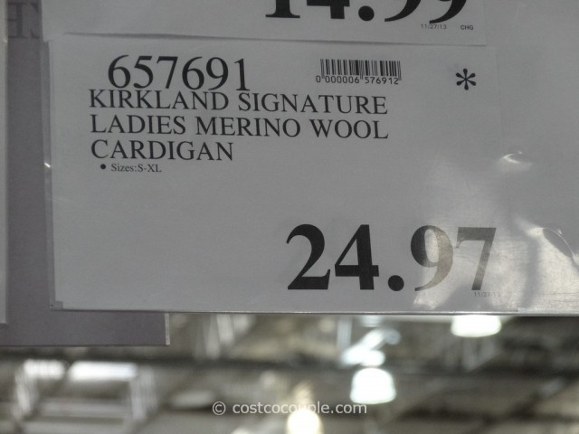 Kirkland Signature Ladies Merino Wool Cardigan Costco