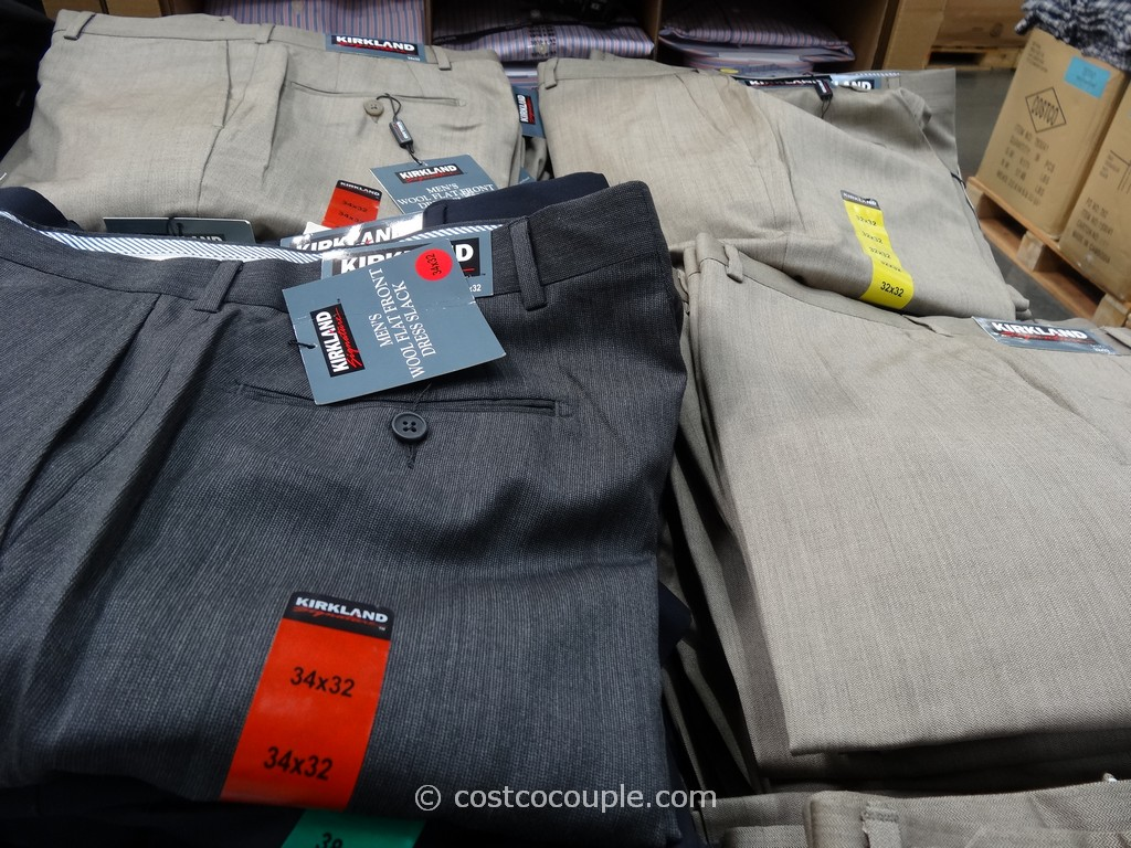 Kirkland Signature Mens Gabardine Wool Pant Costco 9