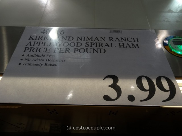 Kirkland Signature Niman Ranch Applewood Spiral Ham Costco 1