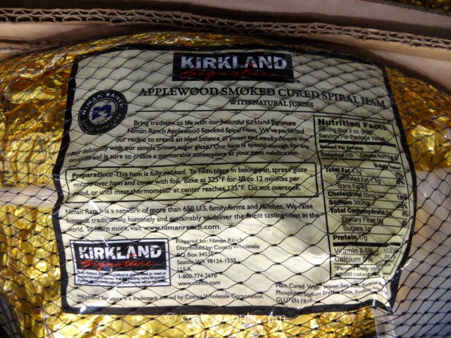 Kirkland Signature Niman Ranch Applewood Spiral Ham Costco 3