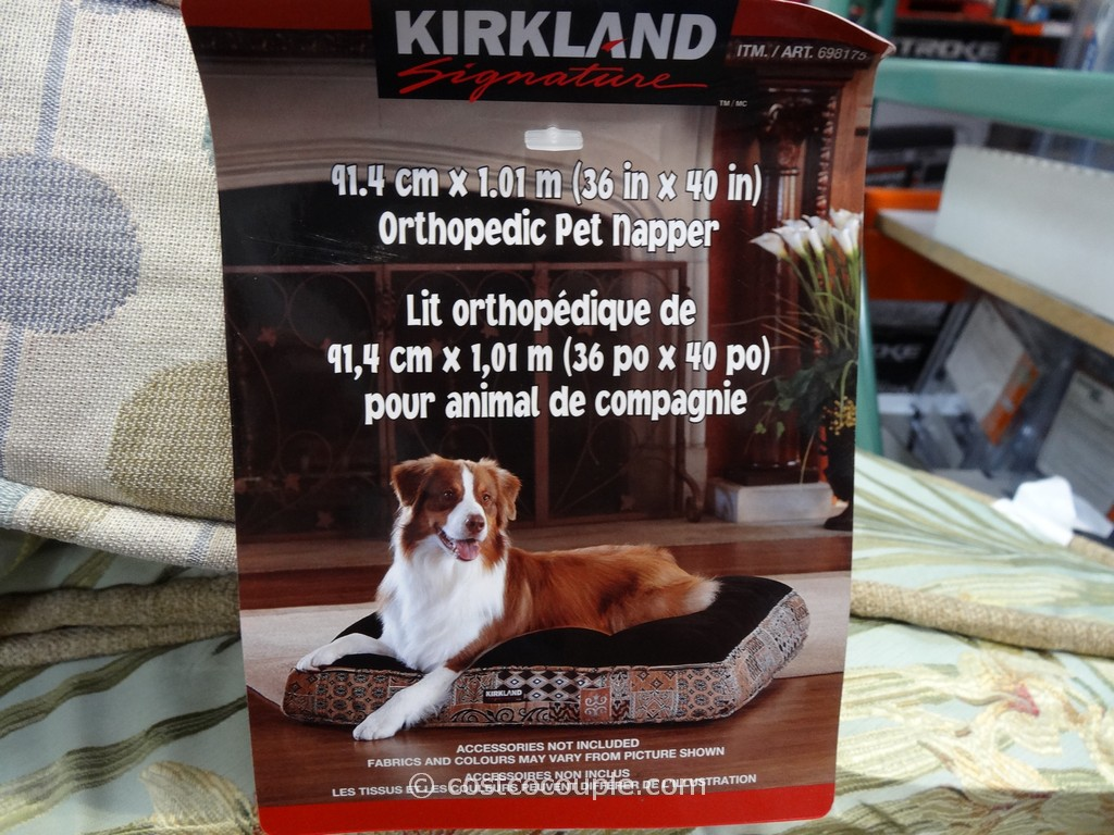 Kirkland Signature Orthopedic Pet Bed Costco 1