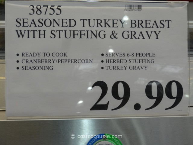 Kirkland Signature Seasoned Turkey Breast With Stuffing and Gravy Costco 1