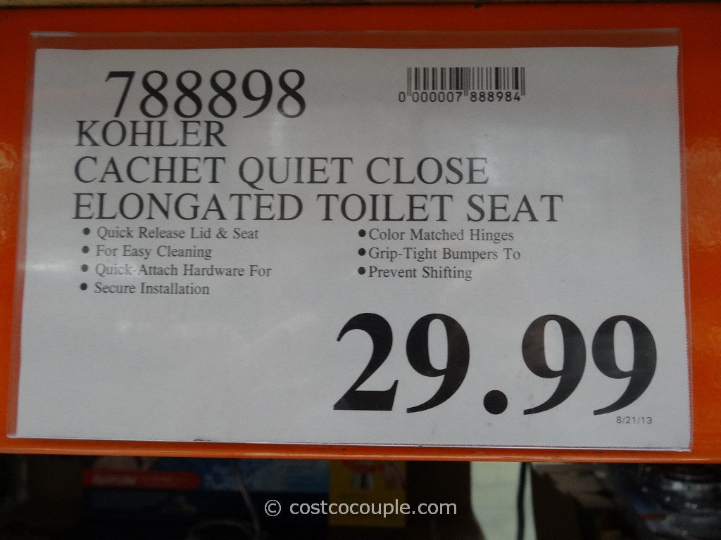 Kohler Quiet Close Elongated Toilet Seat