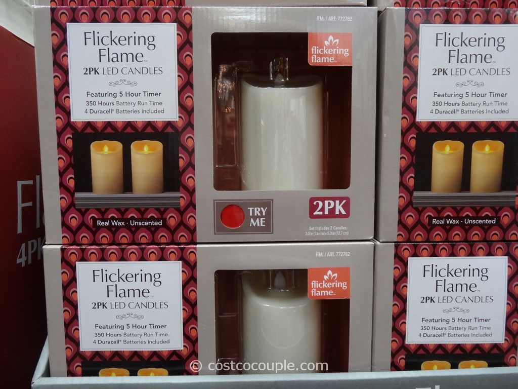 LED Candles With Flickering Flame Costco 1