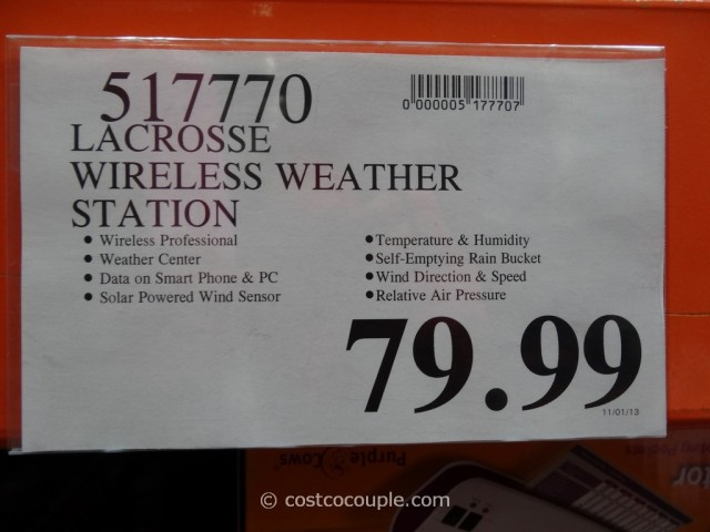 Lacrosse Wireless Weather Station Costco 1