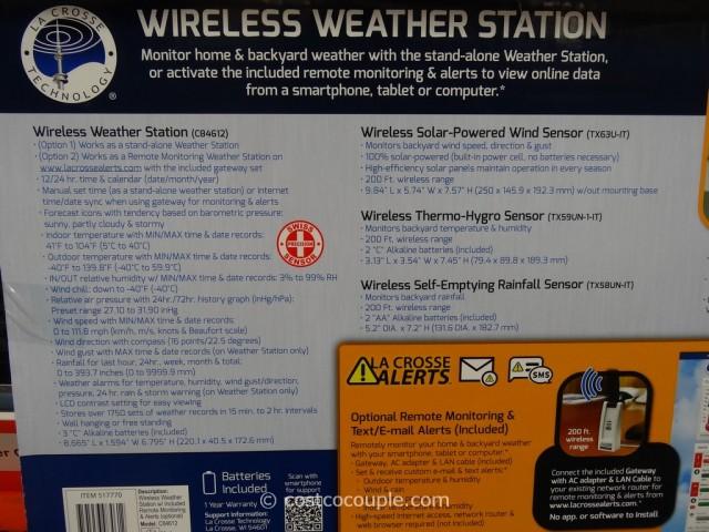 Lacrosse Wireless Weather Station Costco 5