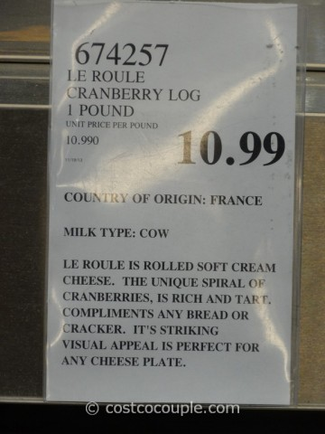 Le Roule Cranberry Log Costco 1